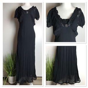 April Cornell Black Vampy Ethereal Lola Lrg Dress